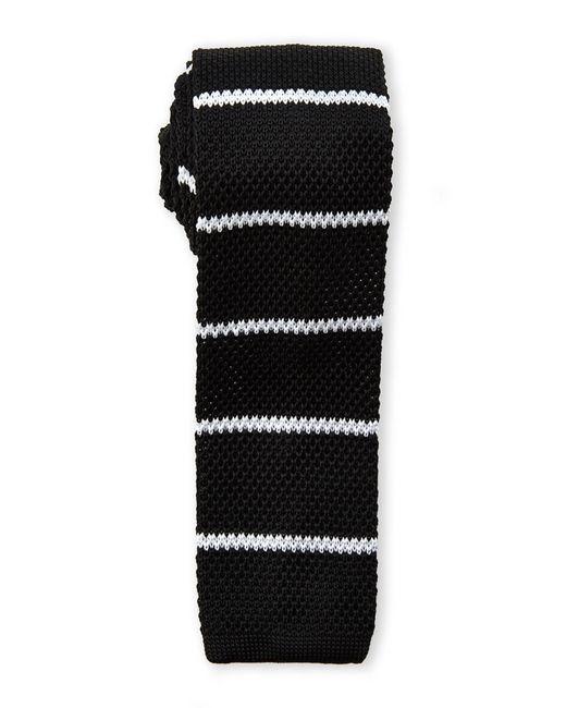 Burma Bibas   Black Bar Stripe Textured Knit Tie for Men   Lyst