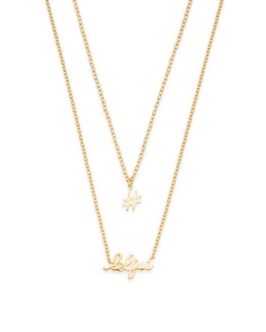 Gorjana | Metallic Selfie 18k Goldplated Two-row Pendant Necklace | Lyst