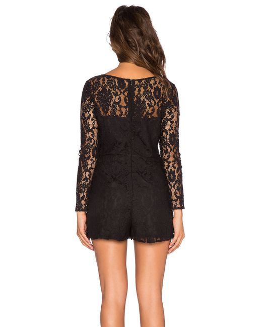 BB Dakota | Black Dasha Romper | Lyst