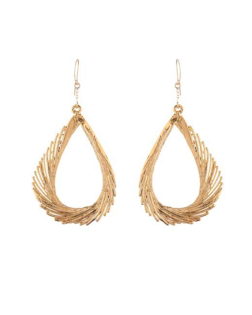 Aurelie Bidermann | Swan Feather Yellow-gold Earrings | Lyst