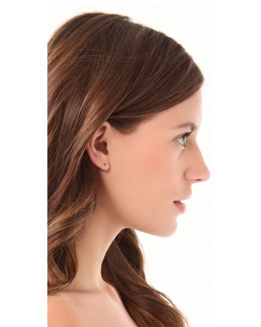 Blanca Monros Gomez | Little Black Diamond Stud Earrings | Lyst