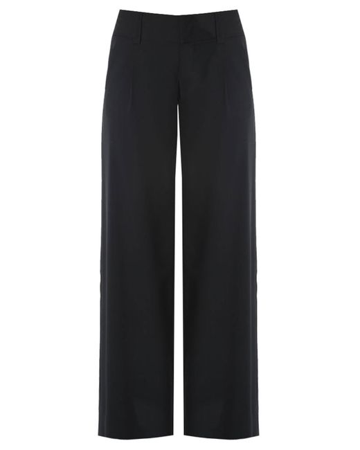 Alice + Olivia | Black - Straight Trousers - Women - Polyester - 2 | Lyst