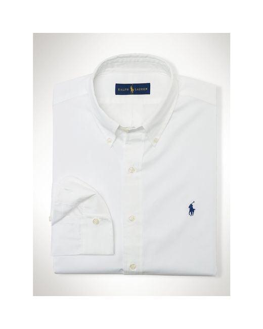 Polo Ralph Lauren | White Solid Cotton Poplin Shirt for Men | Lyst