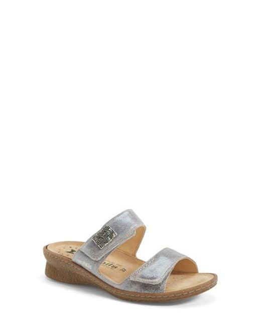 Mephisto | 'Bregalia' Metallic Leather Sandal | Lyst