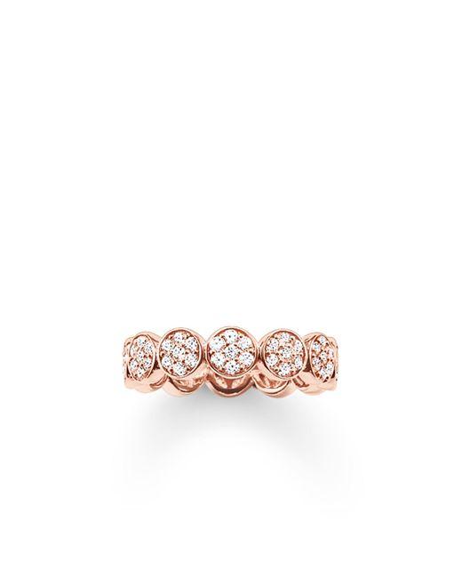 Thomas Sabo | Metallic Sparkling Circles Round Pave Set Ring | Lyst