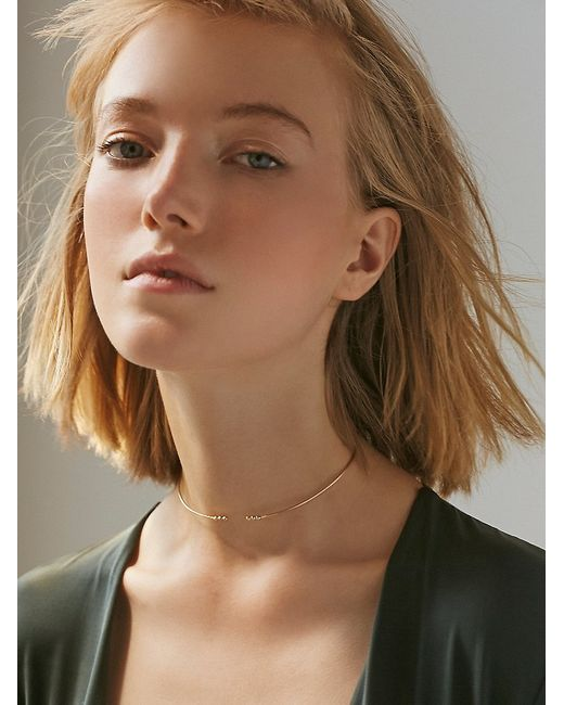 Free People | Metallic 14k Gold Ball Choker | Lyst