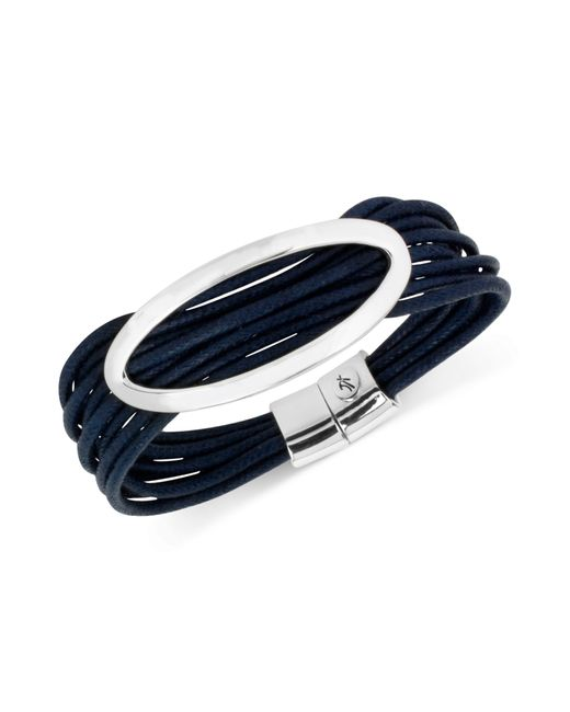 Kenneth Cole | Metallic Silver-tone Blue Multi-cord Bracelet | Lyst