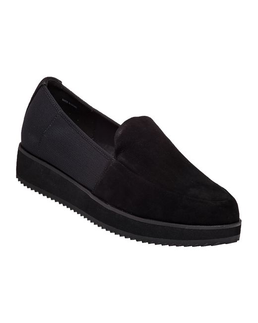 Eileen Fisher | Black Dell Leather Platform Loafers | Lyst