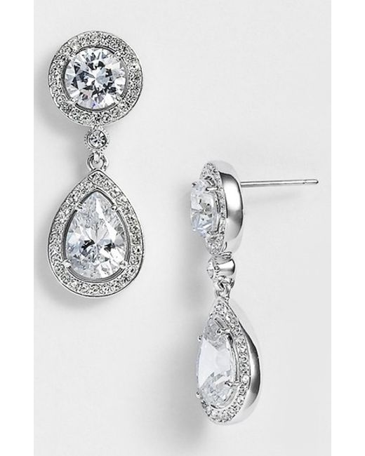 Nadri | Metallic Crystal & Cubic Zirconia Drop Earrings (nordstrom Exclusive) | Lyst