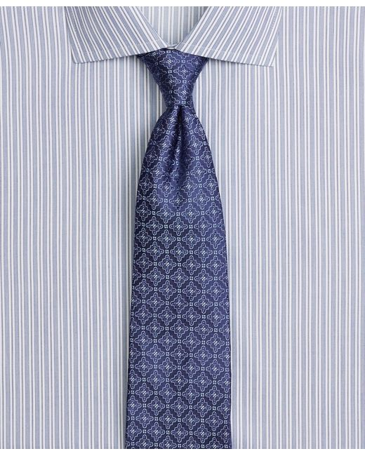 Brooks Brothers | Blue Satin Medallion Tie for Men | Lyst