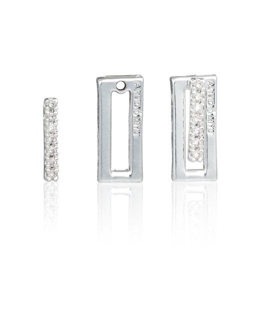 Astrid & Miyu | Metallic Line Ear Jacket In Silver | Lyst