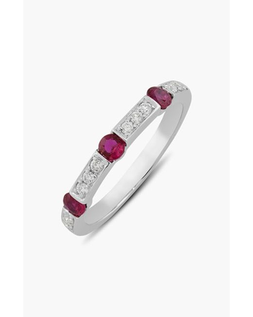 Bony Levy | Metallic Semiprecious Stone & Diamond Ring - Ruby/ White Gold (limited Edition) (nordstrom Exclusive) | Lyst
