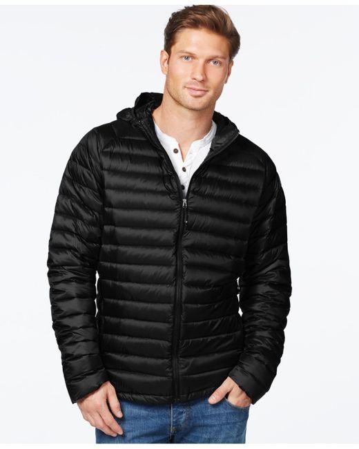32 Degrees | Black Packable Hooded Down Jacket for Men | Lyst