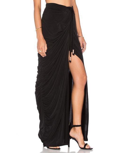 stylestalker echoes of maxi skirt in black lyst