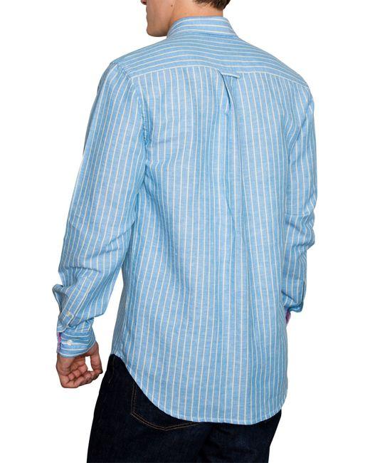 Raging Bull | Blue Stripe Long Sleeve Button Down Shirt for Men | Lyst