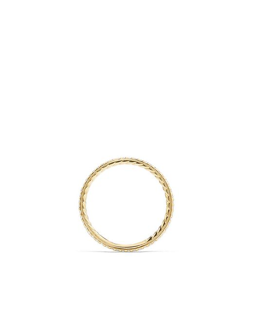 David Yurman   Metallic Single Row Wedding Band In 18k Gold   Lyst