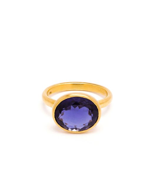 Marie-hélène De Taillac | Purple 22k Yellow Gold Iolite Ring | Lyst