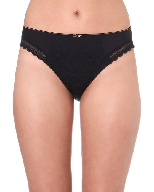 Chantelle   Black Merci Jersey And Stretch-lace Bikini Briefs   Lyst