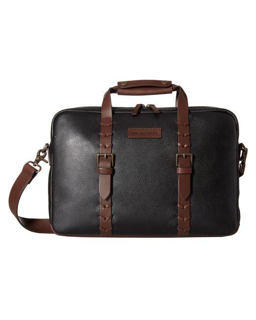 Johnston & Murphy | Black Zip Top Briefcase for Men | Lyst