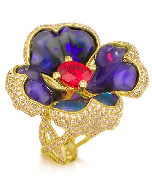 Katherine Jetter | Metallic Queen Ruby Ii Ring | Lyst