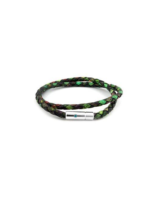 Tateossian | Green Nature Print Scoubidou Bracelet for Men | Lyst