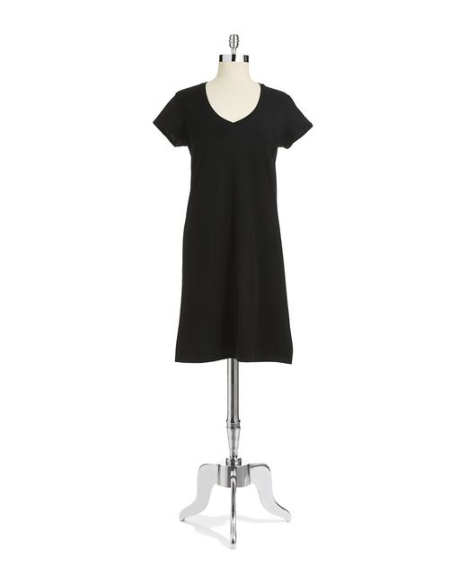 Lord & Taylor   Black Striped Nightgown   Lyst