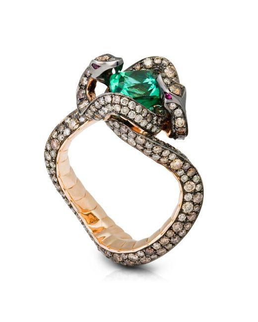 Tomasz Donocik | Green Medusas Hair Snake Ring | Lyst