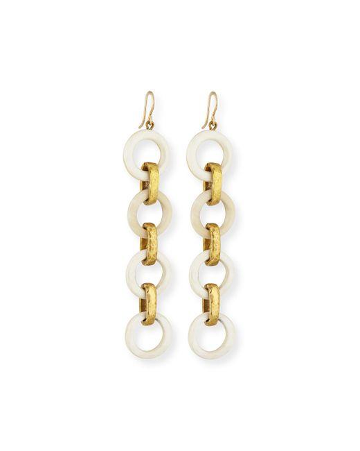 Ashley Pittman | Metallic Simama Light Horn Drop Earrings | Lyst