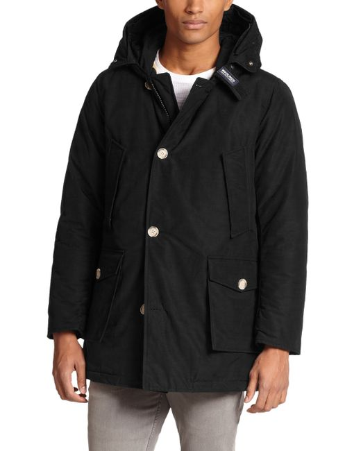 Woolrich | Black Fur-trimmed Arctic Parka for Men | Lyst