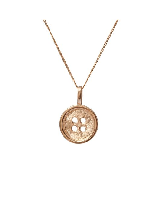 Edge Only | Metallic Gold Button Pendant | Lyst