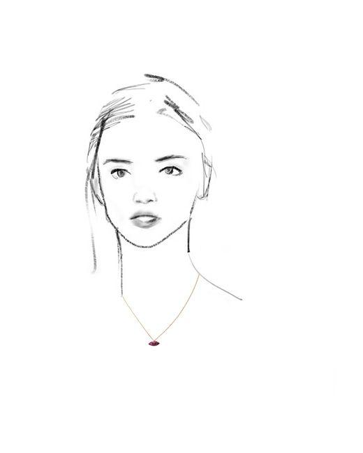 Delfina Delettrez | Red Lips Chain | Lyst