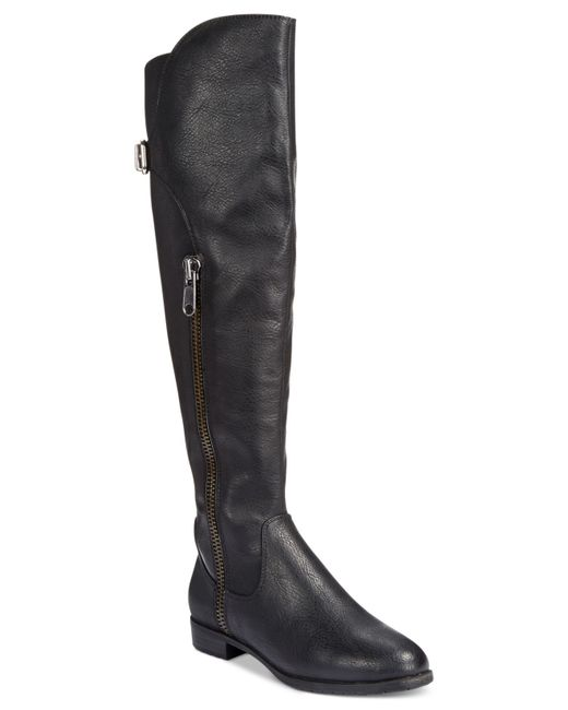 Rialto | Black First Row Casual Over The Knee Boots | Lyst