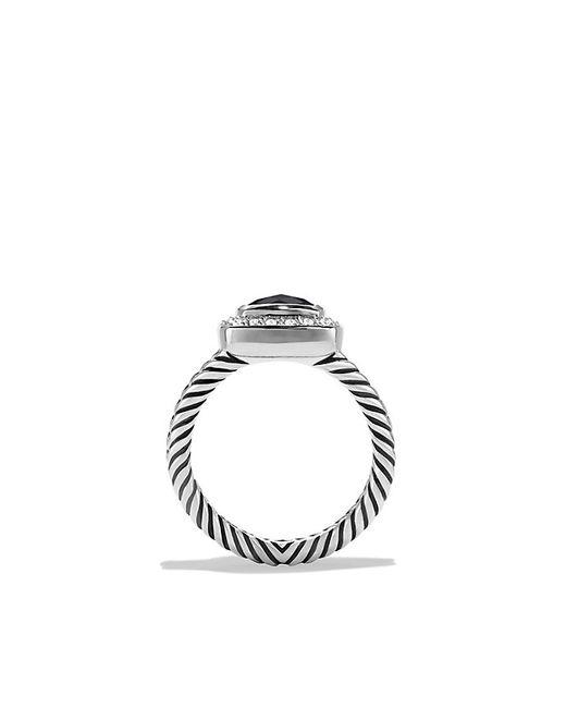David Yurman | Petite Albion Ring With Black Onyx And Diamonds | Lyst