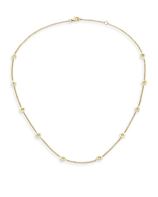 Ron Hami | Metallic Rain Diamond & 18k Yellow Gold Organic Station Necklace | Lyst