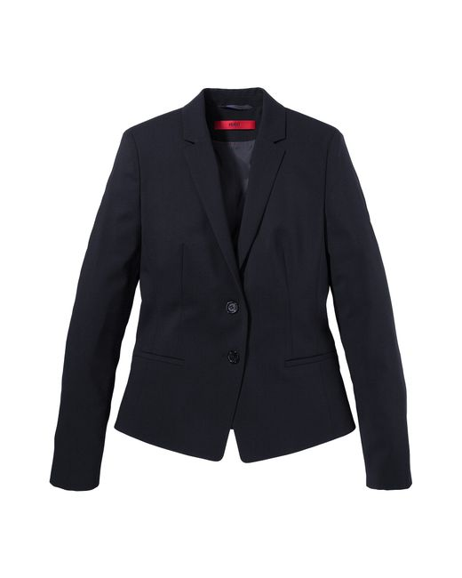 HUGO | Blue Blazer In New-wool Blend With Elastane: 'afrona' | Lyst