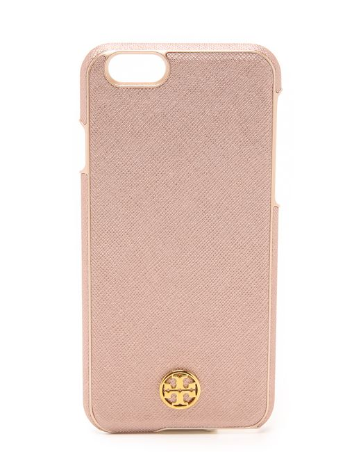 tory burch iphone case burch robinson hardshell iphone 6 6s in pink 5058
