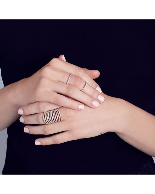 Carbon & Hyde | Metallic Olympia Mid-finger Ring | Lyst
