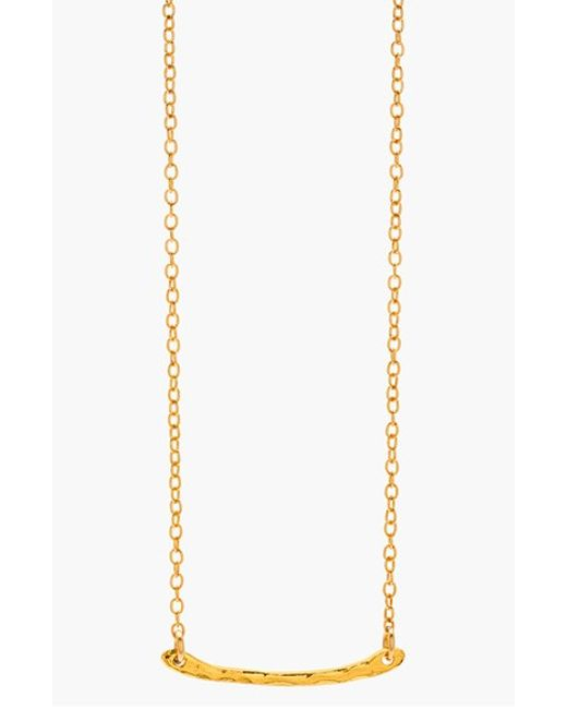 Gorjana | Metallic 'taner' Bar Mini Pendant Necklace | Lyst