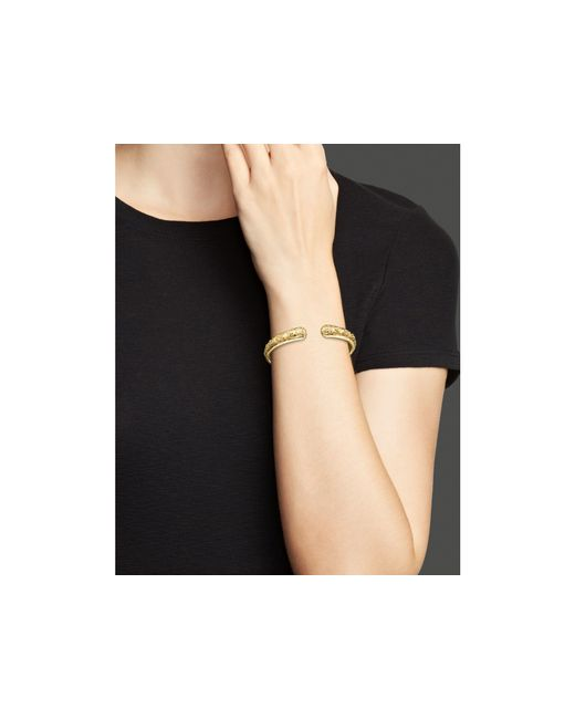 Temple St. Clair | Metallic 18k Yellow Gold Nomad Bella Cuff Bracelet With Diamonds | Lyst