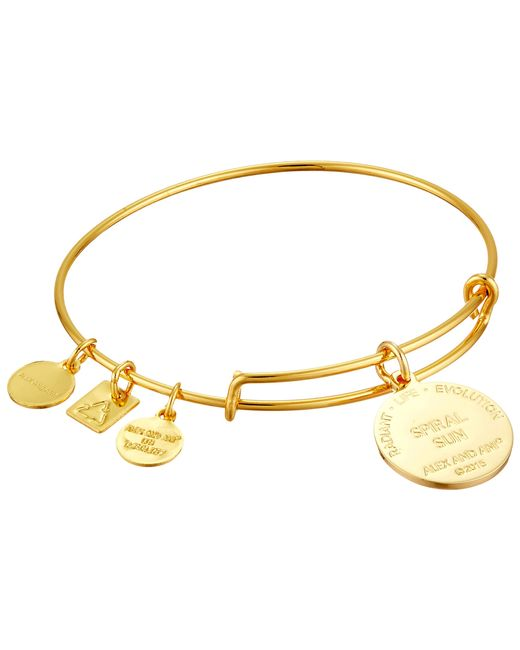ALEX AND ANI   Metallic Charity By Design - Spiral Sun Expandable Charm Bangle Bracelet   Lyst