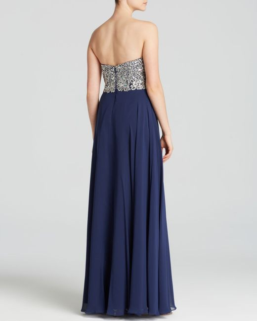 Embellished Bodice Strapless Wedding Gown: Strapless Embellished Bodice & Chiffon