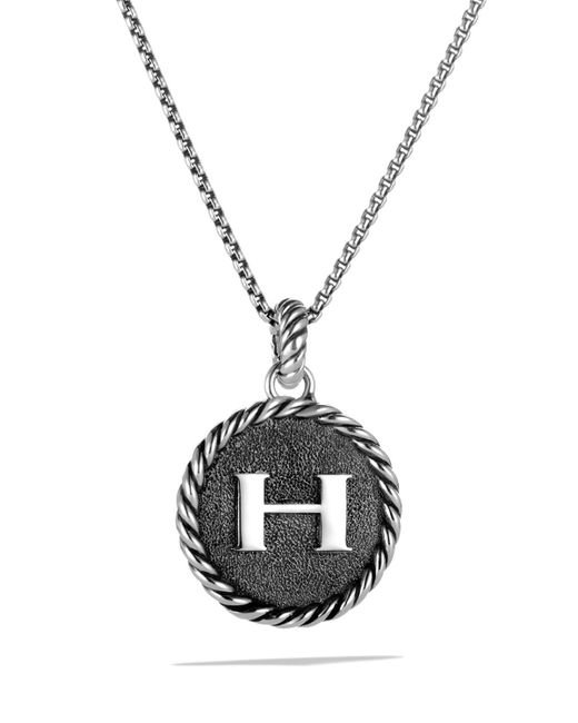 David Yurman | Metallic Châtelaine Pave Bezel Necklace With Black Onyx And Diamonds, 24mm for Men | Lyst