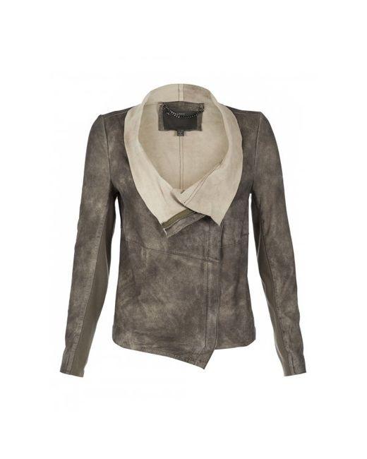 Muubaa   Elbe Beige Leather Jacket   Lyst