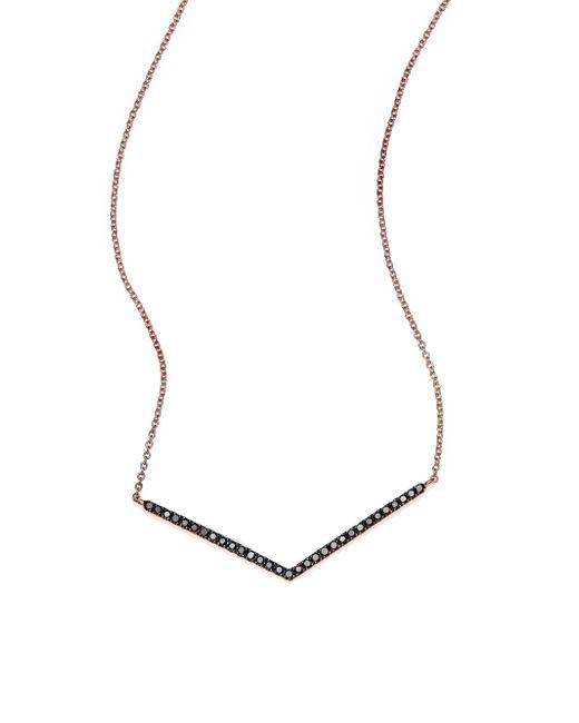 Diane Kordas   Metallic Rose Gold White Diamond Bar Necklace   Lyst