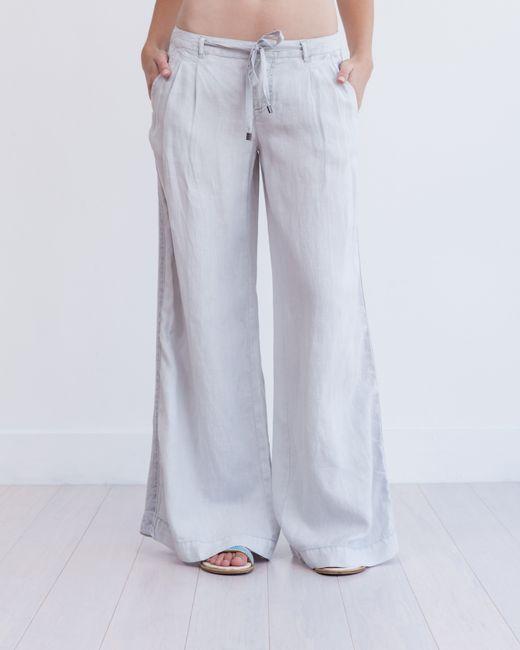 Marrakech | White Torres Wide Leg Linen Trouser | Lyst