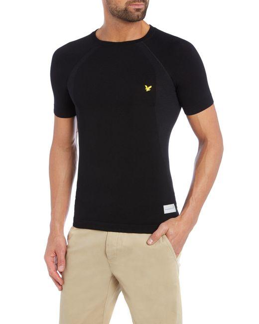 Lyle & Scott | Black Sports Short Sleeve Base Layer Crew for Men | Lyst