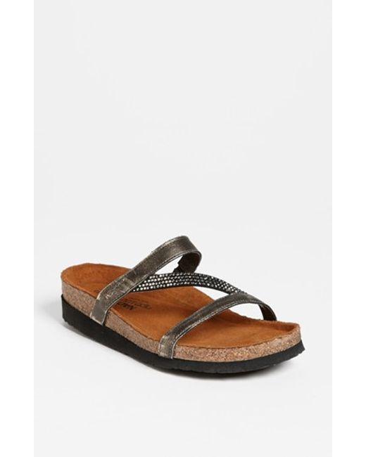 Naot | Metallic 'hawaii' Sandal | Lyst