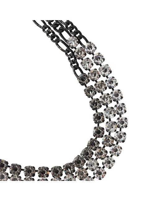Lanvin | Metallic Kristin Three-strand Necklace | Lyst