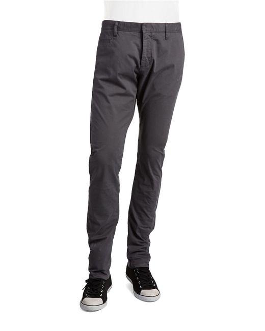 strellson straight leg slim fit pants in gray for men. Black Bedroom Furniture Sets. Home Design Ideas