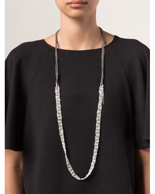 Arielle De Pinto   Black One Strand Chain Necklace   Lyst